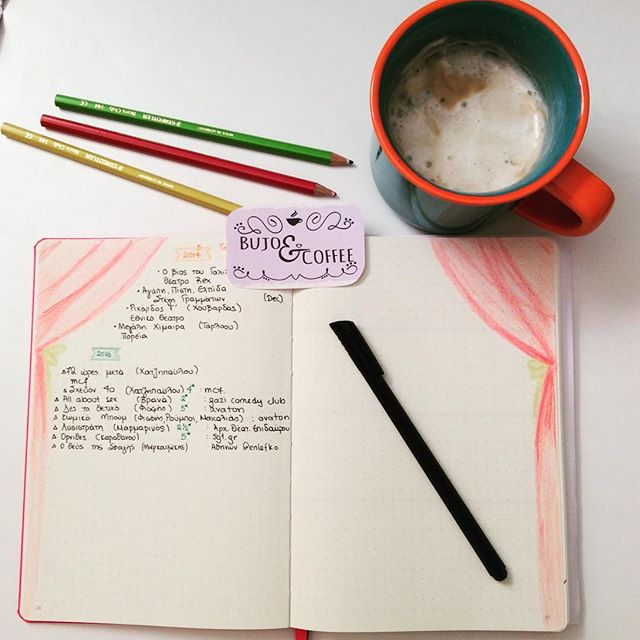 MyBujo: Theatrical list