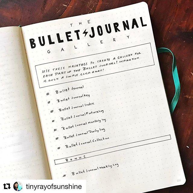 Bullet Journal Community hashtags