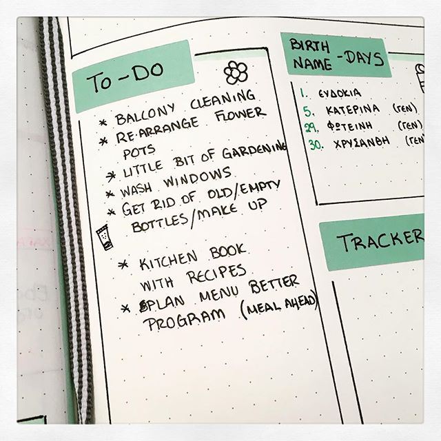 Bullet Journal: TO DO lists