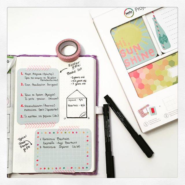 Bullet Journal and Easter Gift List