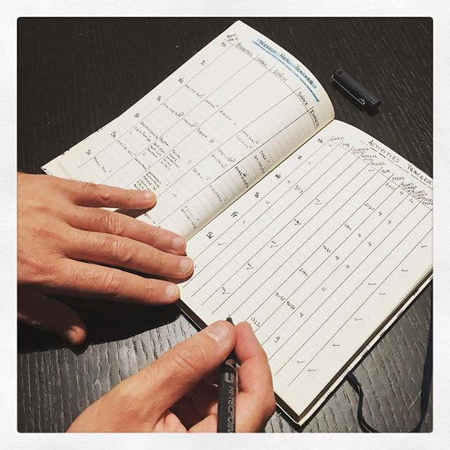Health tracker and bullet journal for my husband