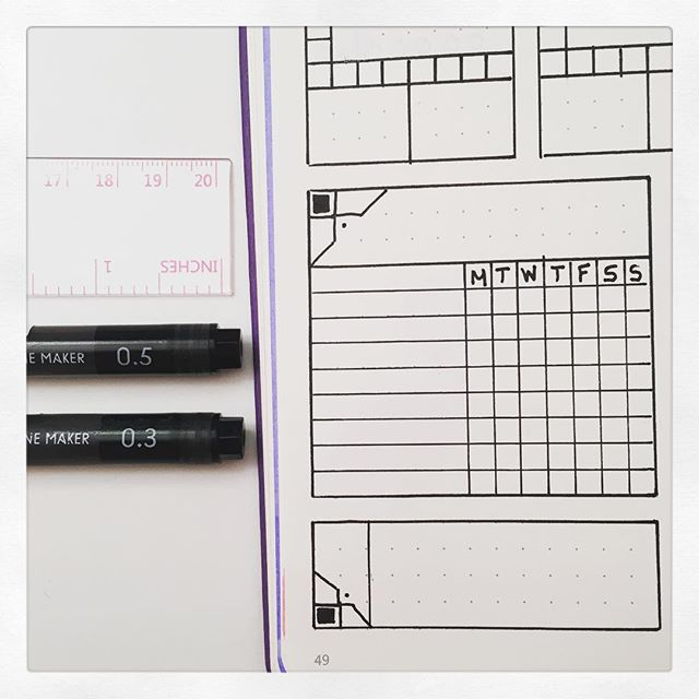 Bujo tips: table and borders