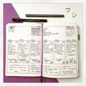 August weekly layouts