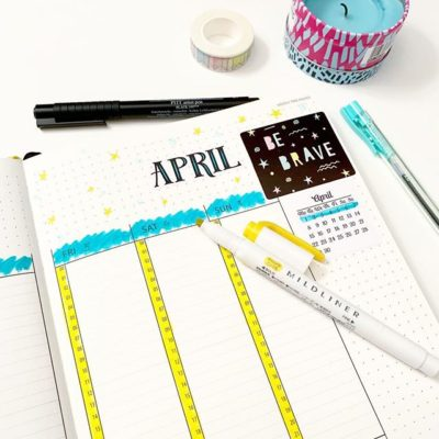 Bullet journal: April 2019 setup