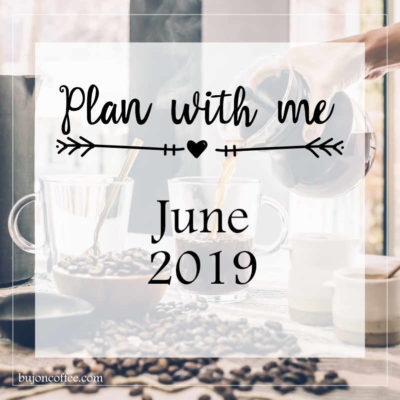 Plan with me: June 2019