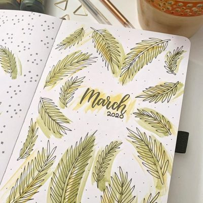 March 2020 in my planner