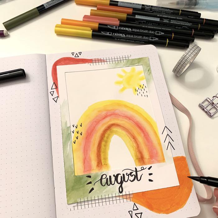 Journal setup for August